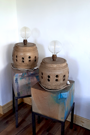 Vintage Wooden Table Lamps