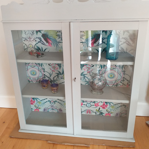 Glass fronted wall unit
