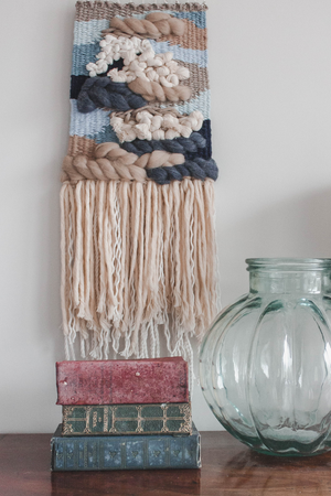 Down By The Sea. Hand Woven Wall Hanging by Hanging Forest