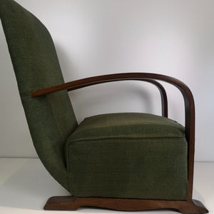 Pair of 1930's Bentwood Armchairs (Newly upholstered)