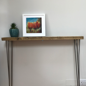 Narrow Rustic Hall Table Console