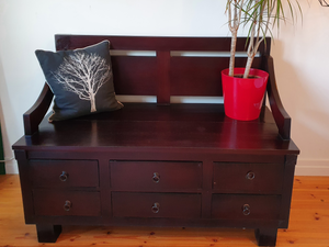Vintage Bench with Storage