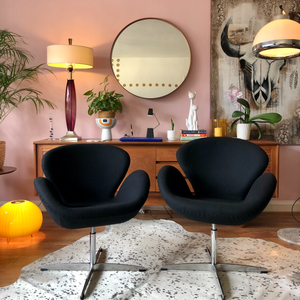 Mid century Swan swivel chairs reproduction
